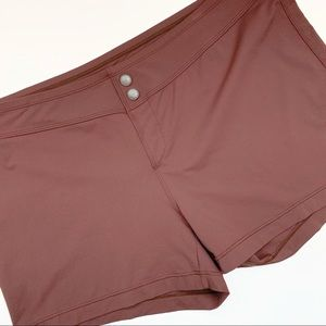 Athleta Dark Brown Vital Board Swim Spandex Shorts